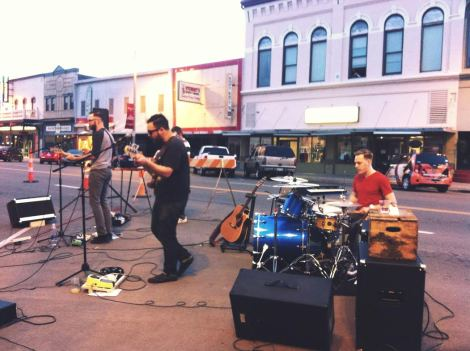 I Heard A Lion played one of their very best shows to date. In the middle of the street. At dusk.