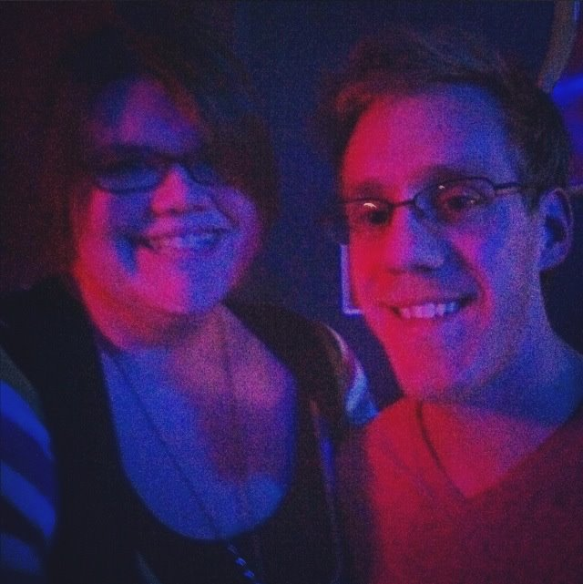 "Our very first ""couple photo"" taken after an I Heard a Lion Show in Wichita, KS"